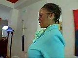 Horny Ebony cougar seduced the handsome guy in the billiard room