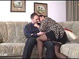 Chubby Milf In Stockings Gets Rammed