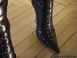 Boot Worship In Straight Jacket bdsm bondage slave femdom domina