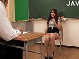 Busty Teacher Stripping