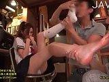 Jap teen feet licked