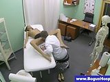 Sexy patient fingered and fucked in hot high def