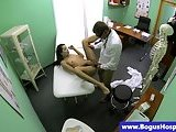 Real patient riding her doctor in high def