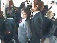 Japanese public handjob