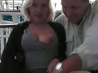 Nasty milf with a ring in her cunt