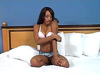 Black girl stripping on webcam