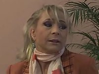 Busty mature hard analed and facialized