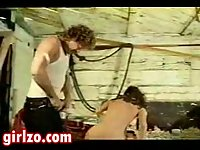 Vintage sex in a shed