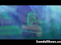 Live sex show on the stage