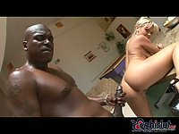 Busty Bree Olson fed up with black pole
