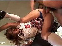 College girl Gigi Rivera rammed in a car