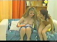 German Lesbians Use Dildo