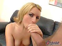 Lexi Belle swallows tasty cumload