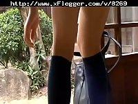 Shiori Asukai posing in her lingerie