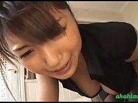 Japanese secretary gets penetrated