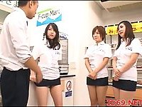 Japanese sluts pussies fingered in a shop