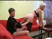 Mature Inga poked in black stockings