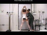 Lesbian Spanking Action