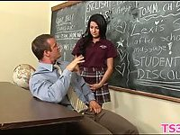 Girl forced to suck teacher dick