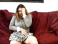 Saskia masturbating solo