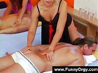 Beautiful generous girls giving massages
