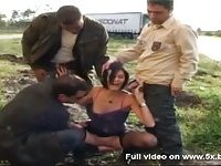 Sophie fucked by truck drivers