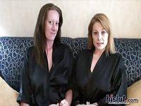 Megan and Tasha are naked lesbos