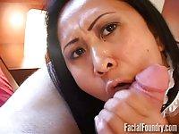 Facial for Asian maid
