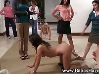 Shy frat teens nude at party