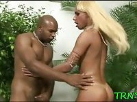 Pretty tranny enjoys hardcore scene 6