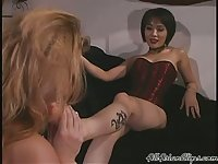 Lesbian Group Foot Domination