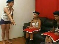 Teacher Punishes Two Teen Girls