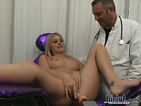 Lacie plays with her clit
