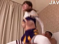 Yummy Jap cheerleader girl fucked