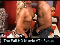 Ass fucked by shemale in red room