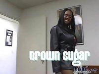 Brown is a happy slut