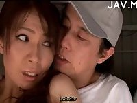Hot Asian Babe Gets Fingered In Public