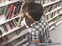 Shy School Teen molested in Bookstore scene 2