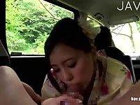 Geisha Sucking & Fucking In A Car
