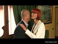 Horny MILFs threesome sex