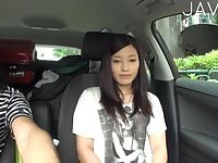 Asian Babe Gives Handjob In A Car