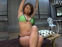 Japanese big boobs & ass massaged