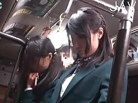 Giving handjob in the bus