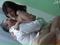 Horny babe fucked by mature doctor