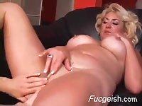 Mature Blonde Meets A Horny Teen Slut