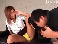 Legs in pentyhose play with jap cock 03