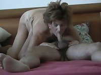 Mature widow gets creampie