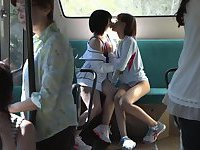 horny lesbian bus geek 01