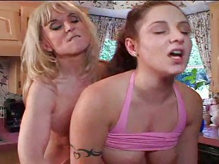 Horny milf ate out young chick