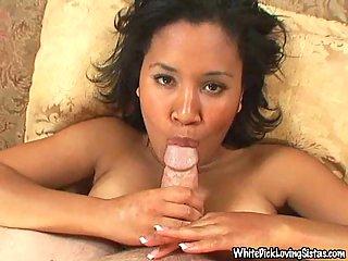 Ebony hoe and white pole